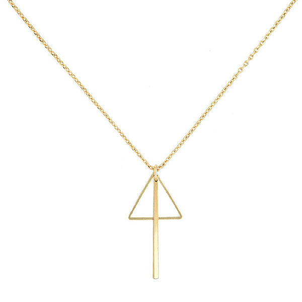 Triangle And Bar Combo Necklace