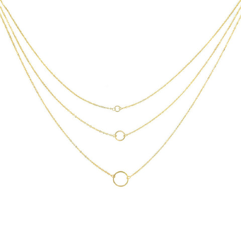 Designer inexpensive online boutique for women - Triple Chain With Diamond Cut