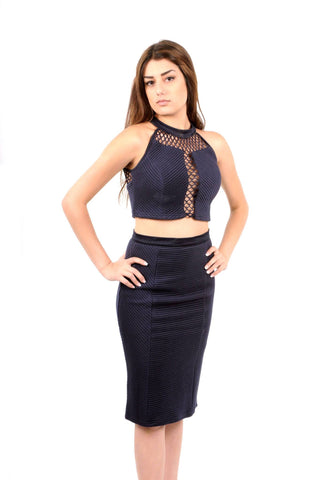 Naughty Grl Classy Embroidered Jumpsuit - Black
