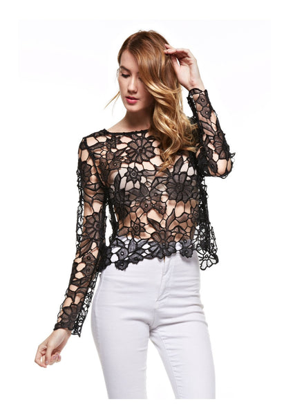 The Pop Of Floral Crochet Top - NaughtyGrl