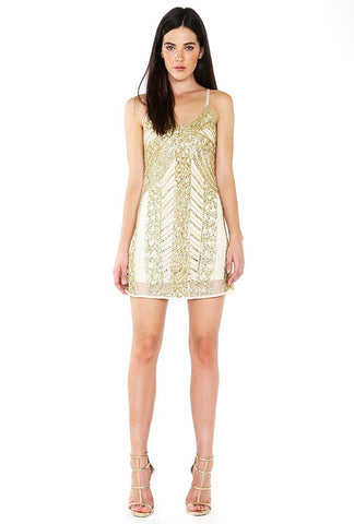 Designer inexpensive online boutique for women - Shimmery Fully Beaded Camisole Shift Dress