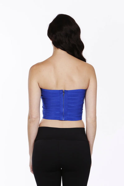 Meet You There Royal Blue Bandage Top - NaughtyGrl