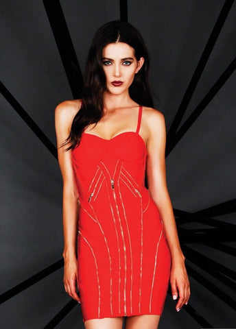 Designer inexpensive online boutique for women - Naughty Grl Exotic & Sexy Bodycon Dress - Red