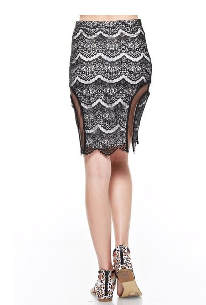 Gorgeous Overlay  Lace Skirt - NaughtyGrl