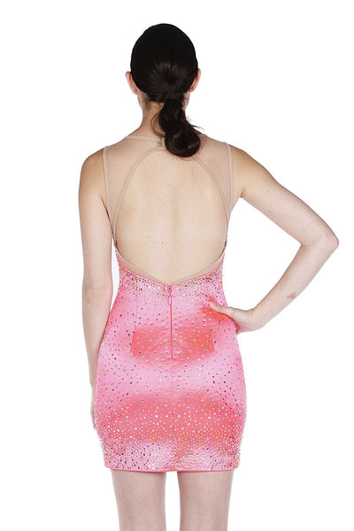 Naughty Grl Short & Chic Strapless Bodycon Dress - Neon Fuchsia - NaughtyGrl