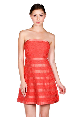 Designer inexpensive online boutique for women - Naughty Grl Strapless Elegant Tube Dress - Coral