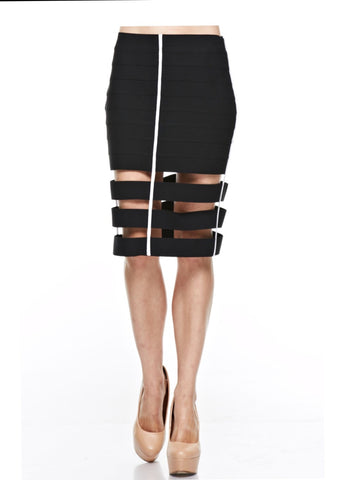 Mini Skirt With Side Cage Detail
