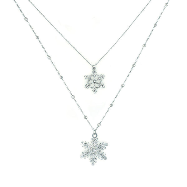 Sparkle Snowflake Necklace - NaughtyGrl