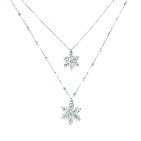 Designer inexpensive online boutique for women - Sparkle Snowflake Necklace