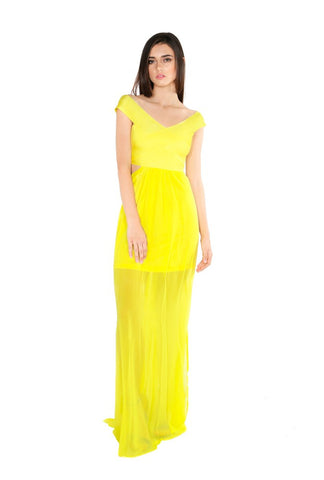 Designer inexpensive online boutique for women - Naughty Grl Spring Maxi Dress - Lemon