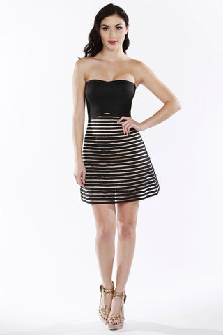 Chick Peek Girl Caged Black Skirt