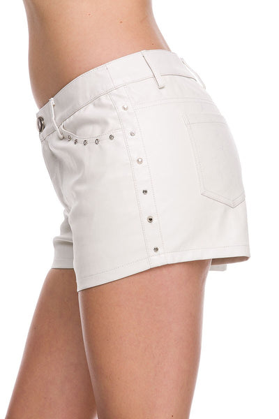 Chic Studded Pleather Short - NaughtyGrl