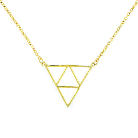 Designer inexpensive online boutique for women - Charm Multiple Triangle Chain - NaughtyGrl