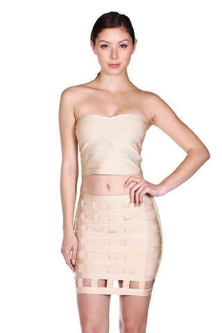 Designer inexpensive online boutique for women - Cool Mini Bandage Caged Skirt