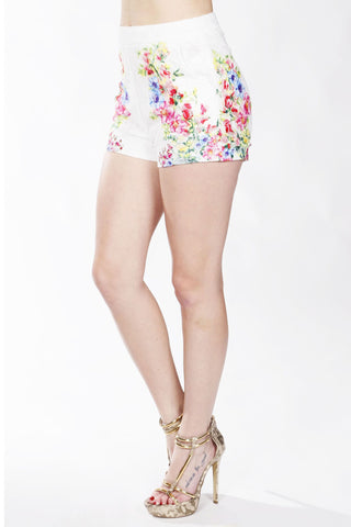 Designer inexpensive online boutique for women - Floral Printed Shorts