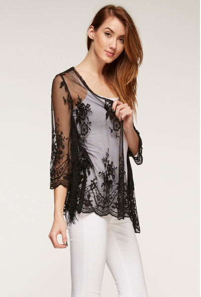 Lovely Lace Outerwear - NaughtyGrl