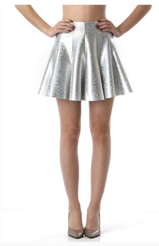 Designer inexpensive online boutique for women - Dance Floor Killer Hologram Skirt - NaughtyGrl
