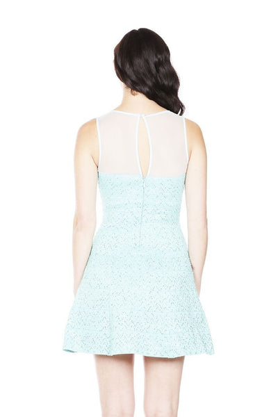 Naughty Grl Fit & Flare Sequin Party Dress - Mint - NaughtyGrl