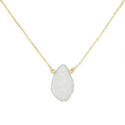 Designer inexpensive online boutique for women - Gorgeous White Stone Pendant - NaughtyGrl