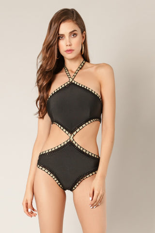 Halter Neck Swimsuit - NaughtyGrl