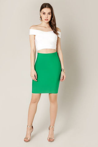 Lime Ombre Bandage Skirt