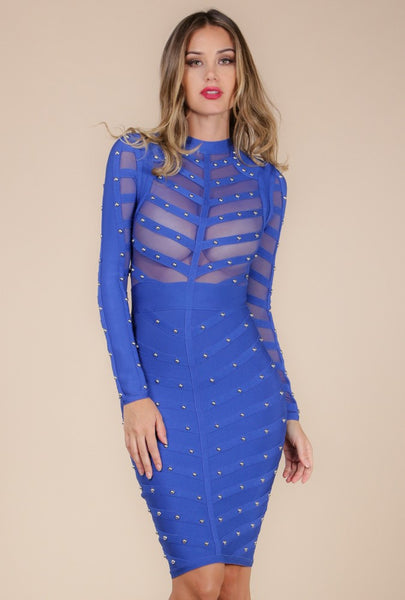 Turn The Head Mesh Body Con Dress - NaughtyGrl