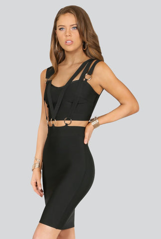 Designer inexpensive online boutique for women - Naughty Grl Bodycon Bandage Dress - Black