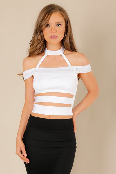 Off Shoulder Floating Choker Top - NaughtyGrl
