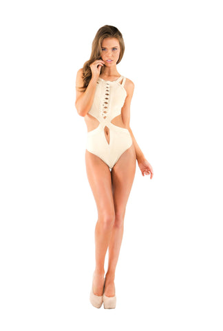 Designer inexpensive online boutique for women - Naughty Grl Cute & Contemporary Monokini Swimsuit - Sand - NaughtyGrl