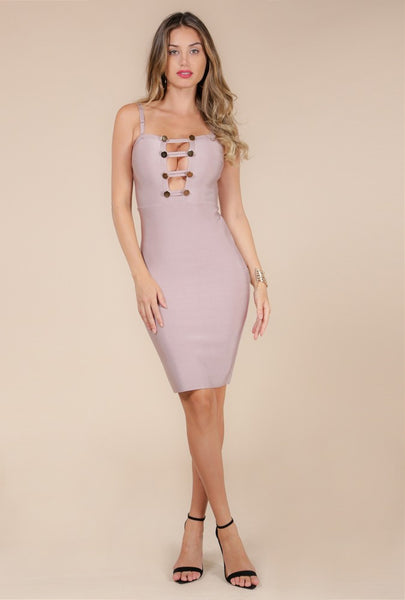 Looking Hot Ladder Front Dress - NaughtyGrl