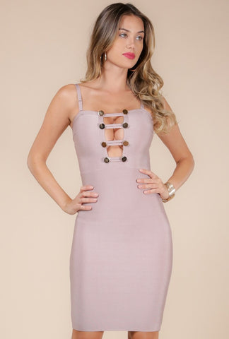 Designer inexpensive online boutique for women - Looking Hot Ladder Front Dress - NaughtyGrl