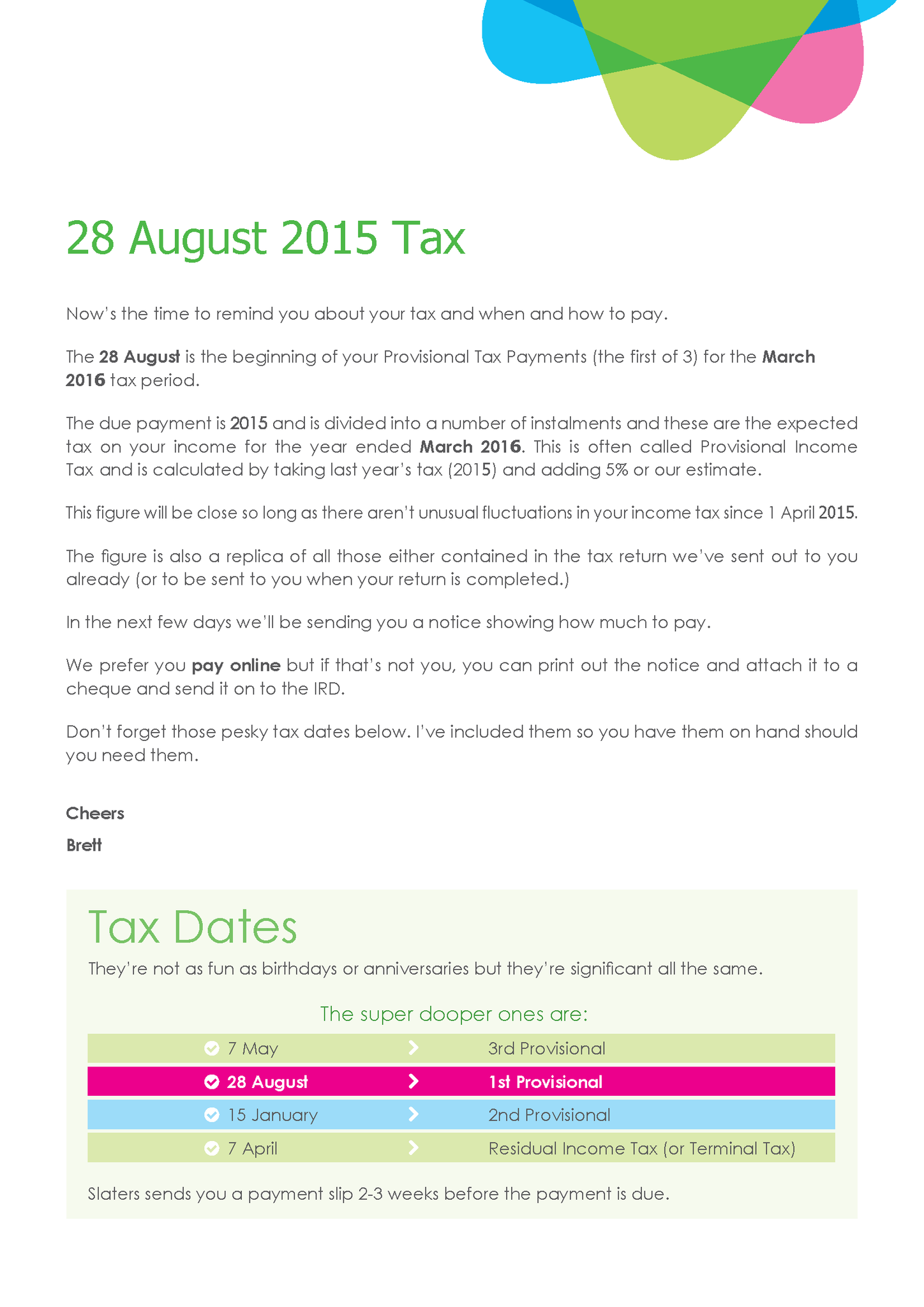 28 Aug 1st Prov Tax Slaters p.3