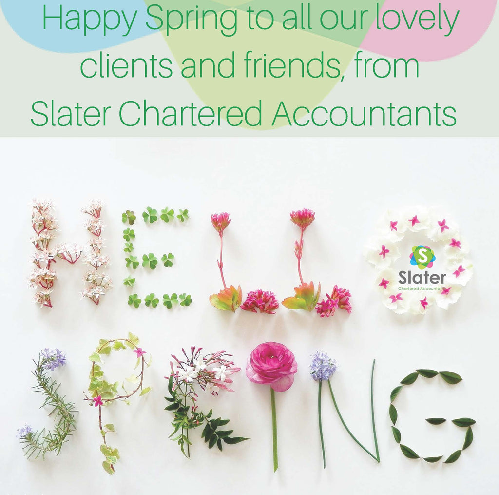 Spring Greetings from Slater Chartered Accountants