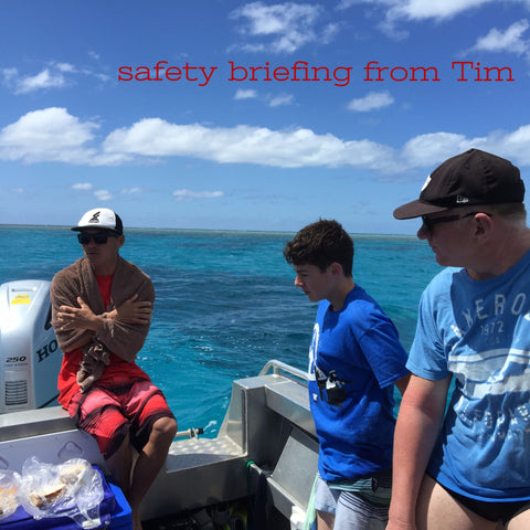 Safety Briefing, Whale Swim and Dive Tours with Slater Chartered Accountants