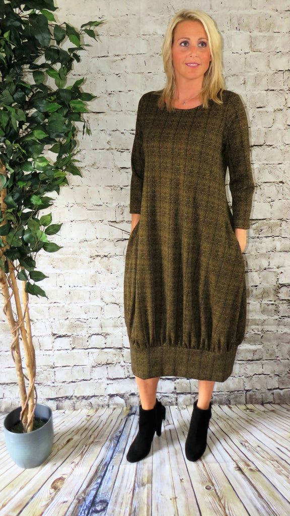 Gathered Hem Dress