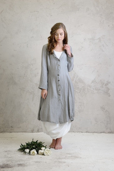 Linen coat with Linen balloon dress