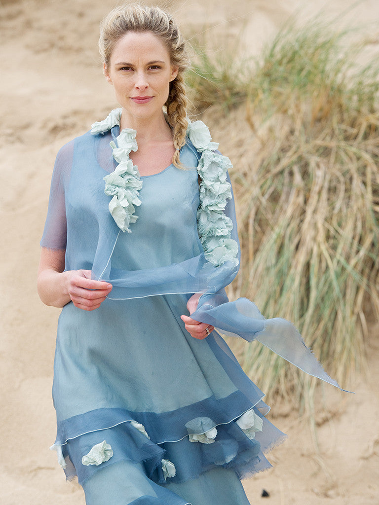 ORGANZA TUNIC FLOWERS, ORGANZA DRESS AND ORGANZA WRAP