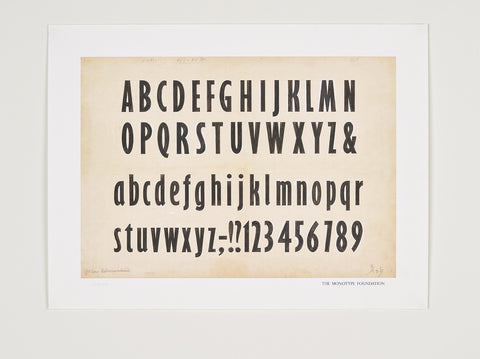 Foundation print: Gill Sans