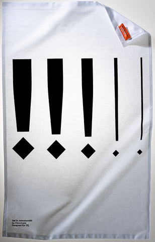 Johnston100 Exclamation Point Tea Towel
