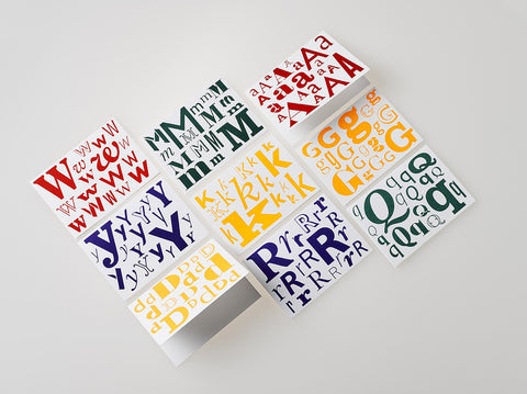 Alphabet Note Cards