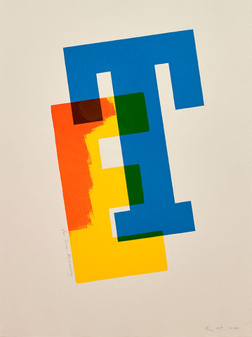 Tom Eckersley print by Alan Kitching