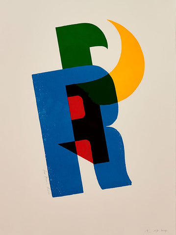 Paul Rand print by Alan Kitching