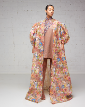 Floral Embroidered Duster Jacket