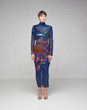 Peakaboo Beaded Midi Dress