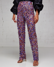 Heavily Beaded Purple Pants