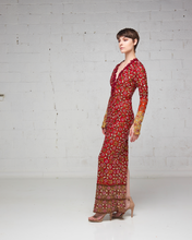 Heavily Beaded Long Sleeve Dress