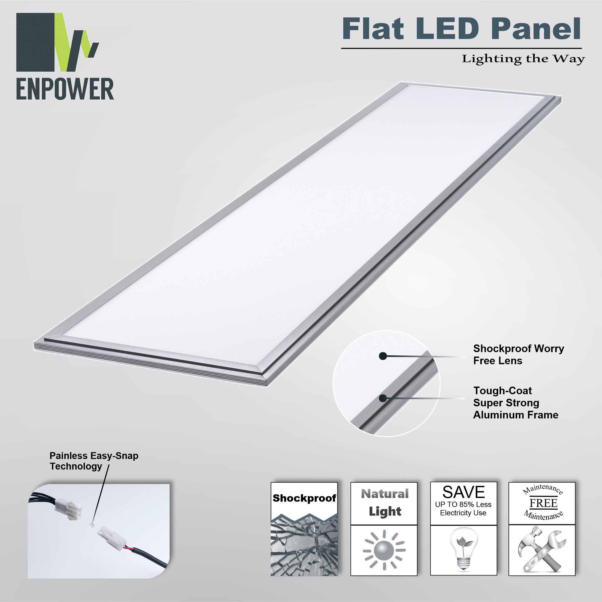 NLCO 1'x4' Warm White Light (2800-3200k) LED Panel Light