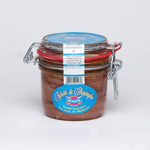 scalia anchovies in olive oil jar 8.4