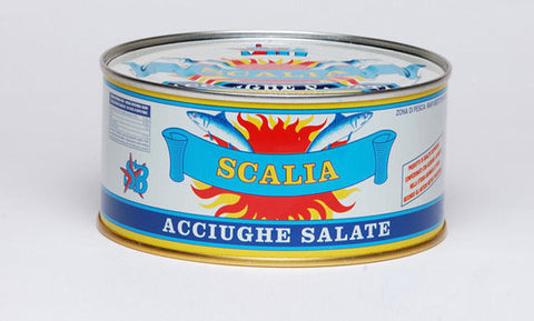 Anchovies in Sea Salt by Scalia