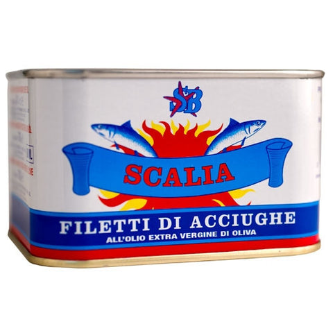 Scalia Anchovies in olive oil tin 24.5oz